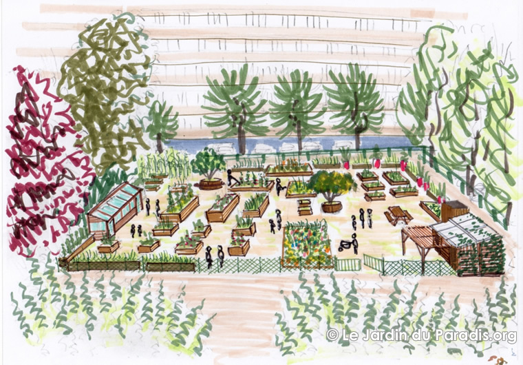 Le jardin du paradis - Plan de jardin ...